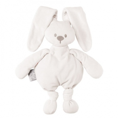 Nattou Hračka plyšová zajíček Lapidou cuddly white 36cm