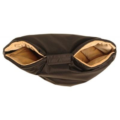 KAARSGAREN-Nový rukávník na kočárek černo béžový