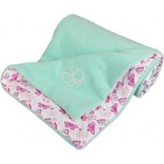 KAARSGAREN-Zateplená dětská deka mentolová motýlci