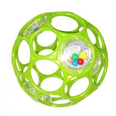 Oball Hračka OBALL RATTLE 10 cm, 0m+ zelená