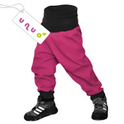 UNUO-Batolecí softshellové kalhoty s fleecem fuchsiová-výprodej