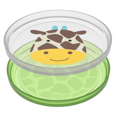 Skip Hop Zoo talířky protiskluzové 2 kusy - Žirafa 6m+