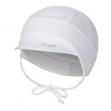 Little Angel-Kšiltovka tenká zavazovací Outlast® - bílá Velikost: 3 | 42-44 cm