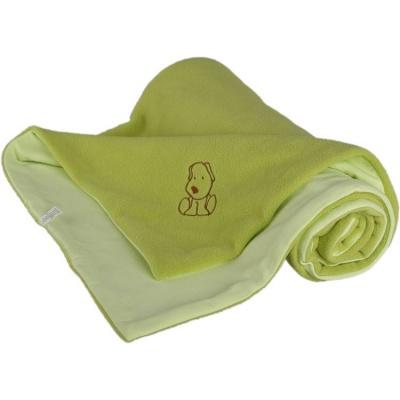KAARSGAREN-Dětská deka zelená s pejskem fleece bavlna