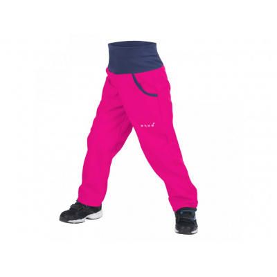 UNUO-New Softshellové kalhoty s fleecem-fuchsiové