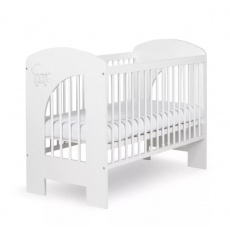 KLUPS Postýlka dětská NEL - Obláček 120x60 cm bílá