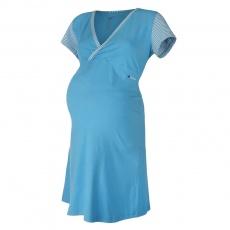 Little Angel-Noční košile tenká Outlast® - pruh azurový Velikost: XL