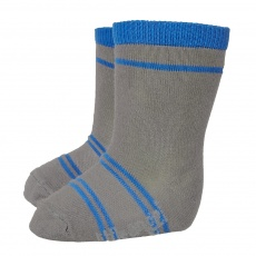 Little Angel-Ponožky STYL ANGEL - Outlast® - tm.šedá/modrá Velikost: 15-19 | 10-13 cm