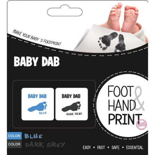 BABY DAB Barva na dětské otisky 2 ks modrá, šedá