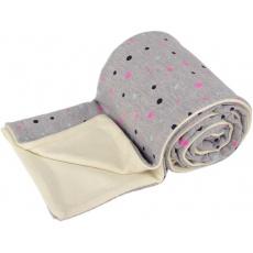 KAARSGAREN-Dětská merino deka šedá s puntíky