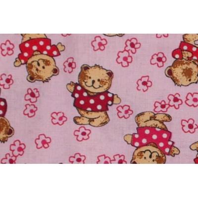 KAARSGAREN-Povlečení postýlka růžové medvěd kytky