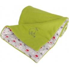 KAARSGAREN-Zateplená dětská deka zelená rybičky
