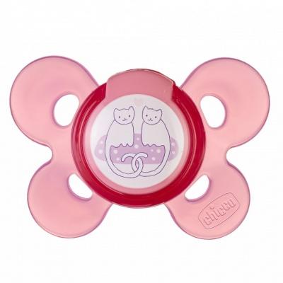Chicco Šidítko Physio Comfort, silikonové, 6-12m,  růžové, 1 ks
