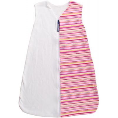 KAARSGAREN-Letní spací pytel růžové proužky 90 cm