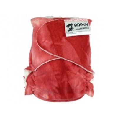 Anavy-Plenka na snappi sponku-batika červená