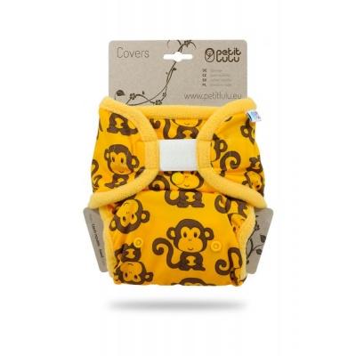 Petit Lulu-Svrchní kalhotky jednovelikostní-Žluté opičky