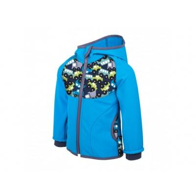 UNUO-NEW Softshellová bunda s fleecem AUTÍČKA TYRKYSOVÁ
