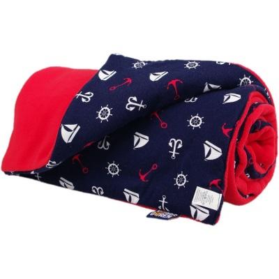 KAARSGAREN-Zateplená dětská deka červená lodičky