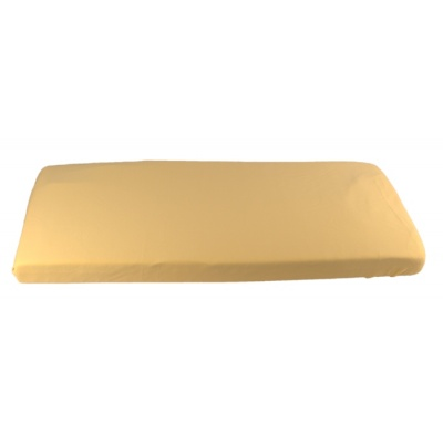 KAARSGAREN-Žluté prostěradlo biobavlna 70 x 140 cm