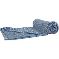 KAARSGAREN-Bambusová deka modré proužky oboulíc