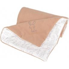 KAARSGAREN-Zateplená dětská deka béžová zajíček