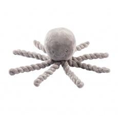NATTOU První hračka pro miminka chobotnička PIU PIU Lapidou grey 0m +
