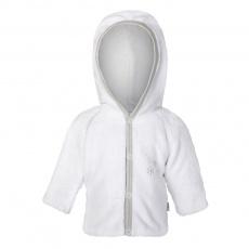 Little Angel-Kabátek MAZLÍK Outlast® - bílá/sv.šedá Velikost: 50