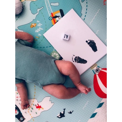 BABYDAB Barva na dětské otisky - fialová