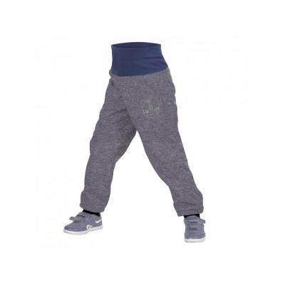 UNUO-Batolecí softshellové kalhoty s fleecem šedý melír+ REFLEXNÍ OBRÁZEK EVŽEN