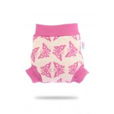 Petit Lulu-Růžoví motýlci–vlněné svrchní kalhotky-vel. L
