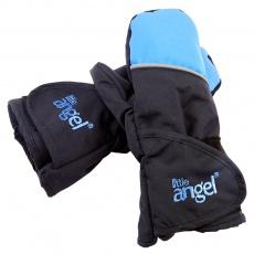 Little Angel-Rukavice s palcem Outlast® - černá/modrá Velikost: 1