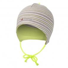 Little Angel-Čepice smyk zavazovací Outlast ® - pruh sv.hnědý Velikost: 0 | 33-35 cm