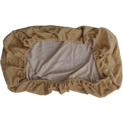 KAARSGAREN-Nepropustné prostěradlo 41 x 90 cm béžové froté bavlna