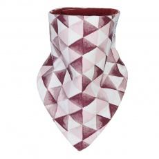 Little Angel-Šátek na krk trojúhelník BIO Outlast® - bordová