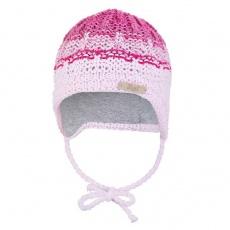 Little Angel-Čepice pletená zavazovací duha Outlast ® - sv.růžová Velikost: 2 | 39-41 cm