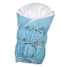 Little Angel-Zavinovačka šněrovací pevná záda ANGEL - Outlast® - modrá/puntík šedý