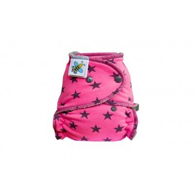 Majab-Kalhotková plenka Hvězdy na růžové PAT