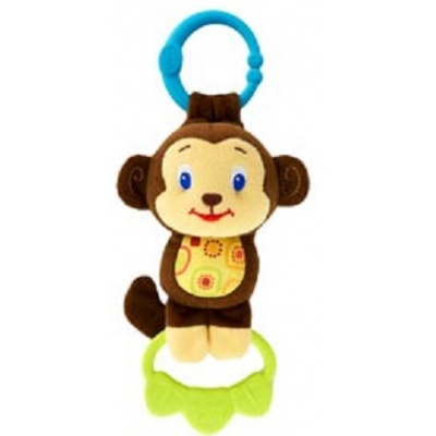 BRIGHT STARTS Hračka na C kroužku Tug Tunes s melodií Opice