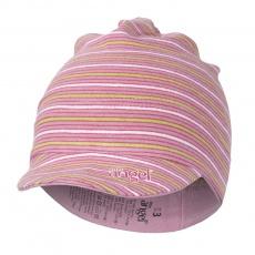 Little Angel-Kšiltovka smyk Outlast® - pruh stř.růžový úzký Velikost: 5 | 49-53 cm