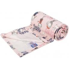 KAARSGAREN-Lehká letní deka 100x150cm růžová Paříž