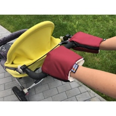 KAARSGAREN-Vínové rukavice na kočárek biobavlna