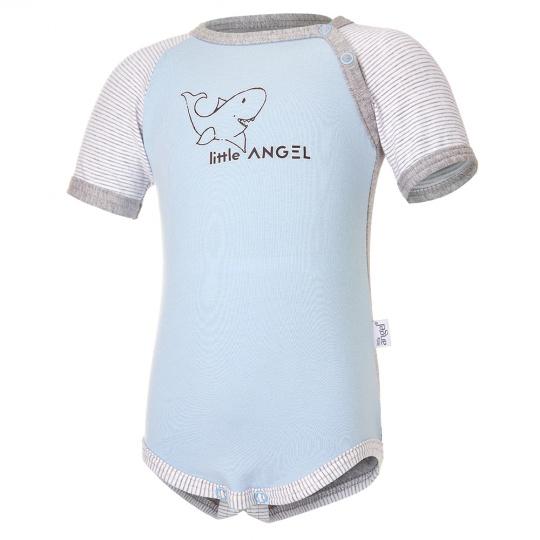 Little Angel-Body tenké KR LA Outlast® - sv.modrá/šedý melír Velikost: 80