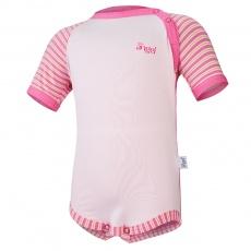 Little Angel-Body tenké KR Outlast® - tm.růžová/pruh růžovožlutý Velikost: 80