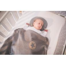 Little Angel-Polštářek - podhlavník pro novorozence Outlast® - šedý melír Velikost: uni