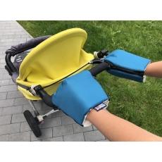 KAARSGAREN-Petrolejové rukavice na kočárek biobavlna
