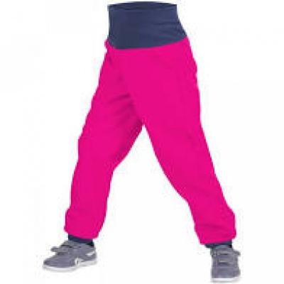 UNUO-Batolecí softshellové kalhoty s fleecem fuchsiové-vel. 74/80