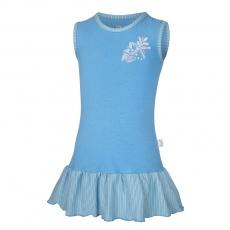 Little Angel-Šaty tenké Outlast® - modrá/pruh modrožlutý Velikost: 86