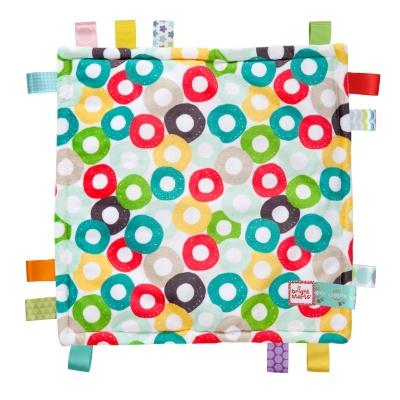 Bright Starts Dečka mazlící Little Taggies kroužky 30x30cm, 0m+