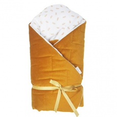KLUPS Zavinovačka Velvet honey yellow 75x75 cm