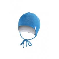 Little Angel-Čepice pletená zavazovací LA Outlast ® - modrá Velikost: 3, 42-44 cm